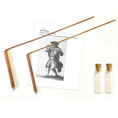 Dowsing rod copper material 99% - ghost hunting, divining water, gold, buried it