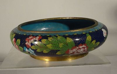 Antique Chinese Vintage Cloisonne Narcissus Bowl Floral Ming Rign Mark Zhengde