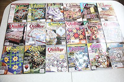 Lot of 27 Quilting Magazines The Quilter Magazine Fabric Trends