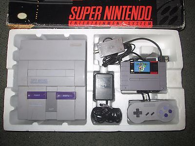 Super Nintendo SNES Console Complete In Box