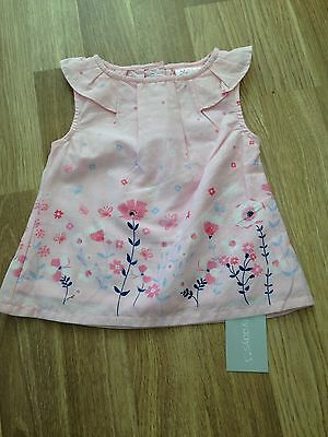 Baby Girls New Pink Top 6-9 Months