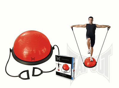 New Tapout Balance Ball Trainer With Resistance Bands Workout Core Fitness