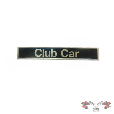 CC103816601 Club Car Name Plate (Gold Lettering and Border)