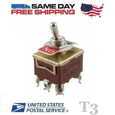 TPST ~ Triple 3 Pole Single Throw 3PST 6-Pin (ON-OFF) 15a Toggle Switch