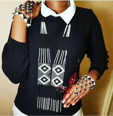 South African Wedding Zulu Traditional Beaded Necklace Afroxone Accessories