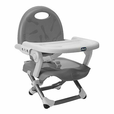 Chicco Pocket Snack Booster Seat - Silver NEW
