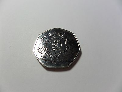 1973 Royal Mint Uk Bu Clasped Hands 50P Fifty Pence Coin & Case