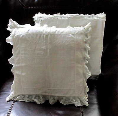 "Antique Lace Boudoir Pillow Case 19"" Square"