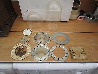 Antique / Vintage Clock Parts AND PLASTIC DOMES.(SCRATCHED)