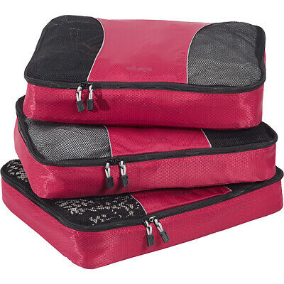eBags Large Classic Packing Cubes - 3pc Set 10 Colors Travel Organizer NEW