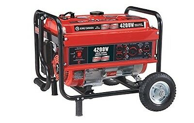 King Canada KCG-4200G 4200W Gasoline Generator with Wheel Kit