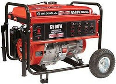 King Canada KCG-6501G 6500W Gasoline Generator with Wheel Kit