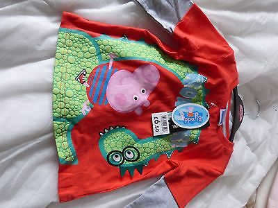 Peppa Pig Long Sleeved Top  George And His Dragon Age 1 1/2 -2 Years Bnwt