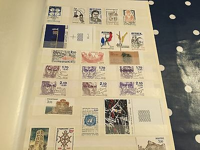 France booklets and stamps in stockbook all nhm good cat value !!!