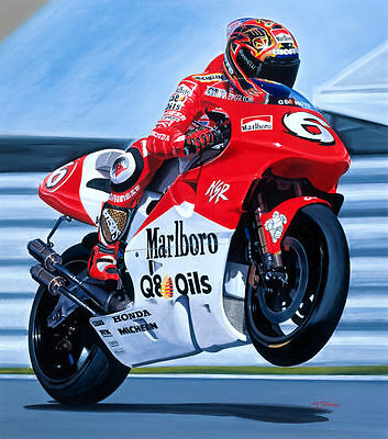 Max Biaggi Marlboro Yamaha World Superbike Motorcycle Racing Motorbike Art Print