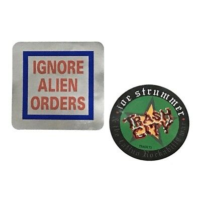 Strummer Clash Ignore Alien Orders & Trash City Decals Stickers
