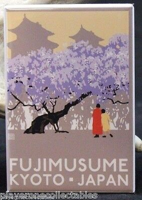 "Fujimusume / Kyoto Japan Travel Poster 2"" X 3"" Fridge / Locker Magnet."