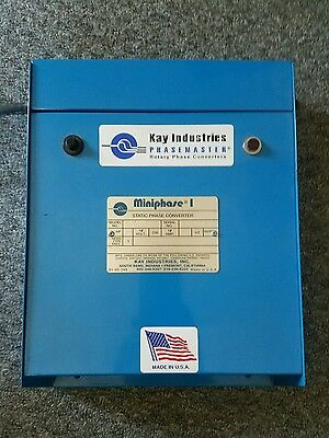 Kay Industries Phasemaster Miniphase 1 Static Phase Converter MP-500 Made in USA