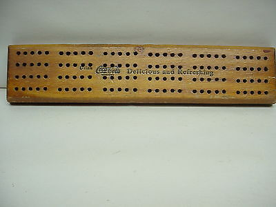 Vintage Drink COCA COLA CRIBBAGE BOARD
