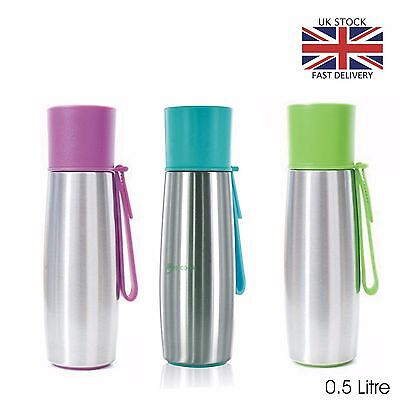New Stainless Steel Thermos Flask Vacuum Insulated 500ml Hot  Drinks Tea Coffee