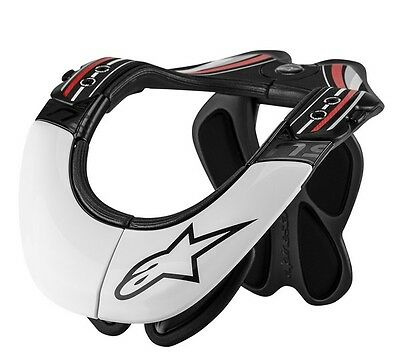 Alpinestars PRO NECK/SPINE INJURY SUPPORT Armour White Motocross MX Off-Road