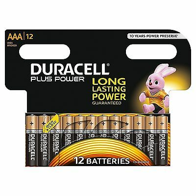 Duracell Plus Power Aaa Battery Lr03 Mn2400 X 12 Pack