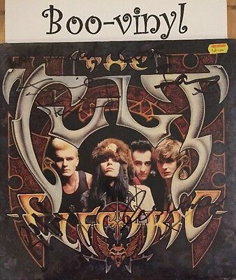 AUTOGRAPHED The Cult Electric-Beggars Banquet-BEGA 80-UK-1st day Release Ex Con
