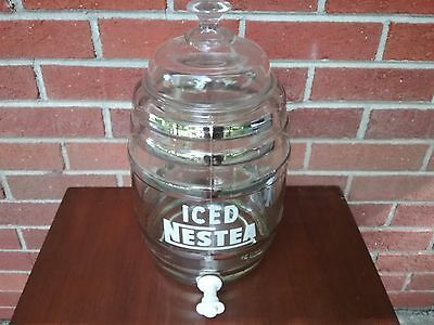 "ICED NESTEA GLASS,  ICED TEA DISPENSER  2 Gallon Counter TOP, 12""H - NICE"