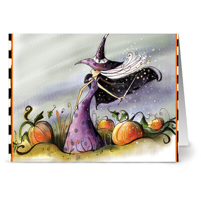 Kraft Envs Witch in Green 24 Note Cards