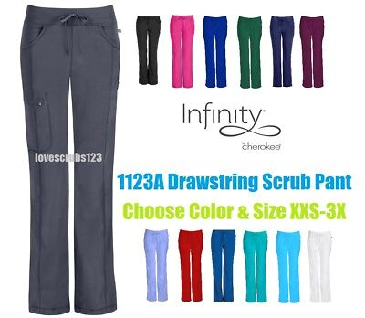 Cherokee Infinity Straight Leg Drawstring Scrub Pant 1123A Choose Size & Color!