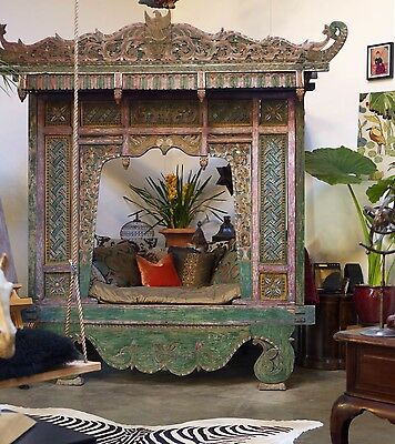 Authentic Handcarved Indonesian Wedding Bed from Java ~ Fabulous in a Garden