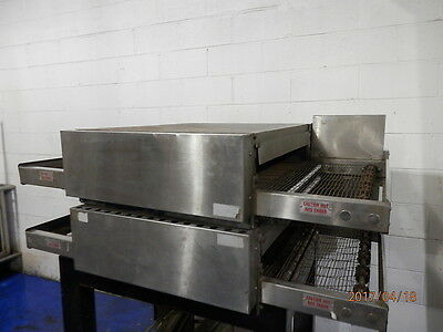 Electric Double Deck Conveyor Pizza Oven With Stand