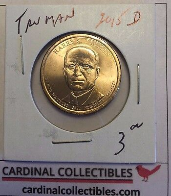 2015 US President Harry S. Truman D Dollar Coin in BU Condition