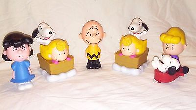 5 PEANUTS MOVIE MCDONALDS TOYS FIGURINES CHARLIE BROWN LUCY SNOOPY Cake Toppers