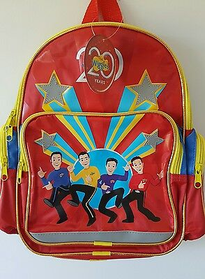 BNWT The Wiggles 20 Years Backpack Toddler Daycare Bag Wiggly Birthday Gift