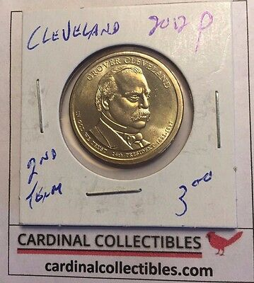 2012 US President Grover Cleveland (2nd Term) P Dollar Coin in BU Condition