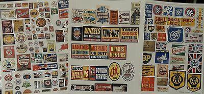 Three(3) 8 1/2'' x 11'' of Garage  Decals Cut Peel and Stick 1:24 Scale Diorama