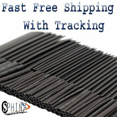 127pc Heat Shrink Wire Wrap Assortment Tubing Electrical Connection Cable Sleeve
