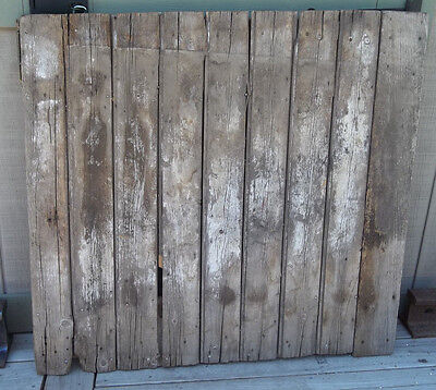 "BARN DOOR OLD WOOD FARM DOOR 45"" x 42"" Lots of Character/Charm"
