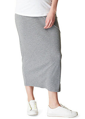 NEW - Supermom - Grey Side Split Maxi Skirt - Maternity Skirt