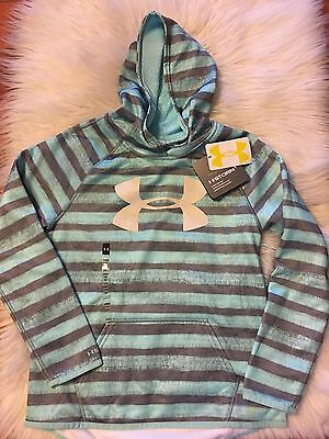 Girls Under Armour Cold Gear Hoodie Size Youth Med 8 New!