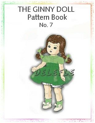 Ginny Doll Pattern 7-8 inch outfits Book No. 7 wardrobe
