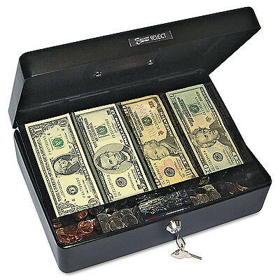 PM Company Securit Select Spacious Size Cash Box, 9-Compartment Tray, 2 Keys, B
