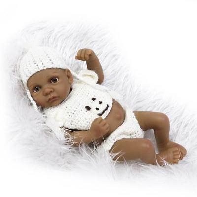11in Mini Cute Simulation Girl Baby Full Silicone Reborn Dolls Baby Bathing Toys