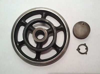 Singer Sewing Machine Parts Antique 1906 Model 28 Hand Balance Wheel and Washer