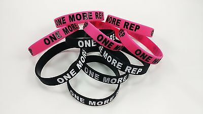 10 pack One More Rep Silicone Wristband Lot, FAST FREE SHIPPING