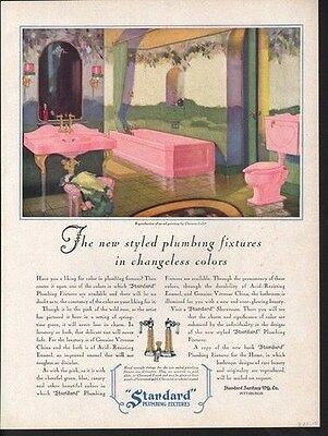 1929 Standard Plumbing Clarence Cole Bathroom House Ad 14789