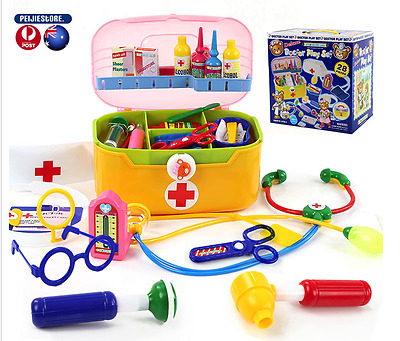 Peijie Girl Boy Deluxe doctor medical play set(28 pieces)kids gift toddle presen