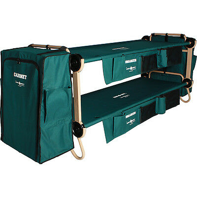 Disc-O-Bed CamOBunk Large with 2 Organizers Cabinets - Outdoor Accessorie NEW