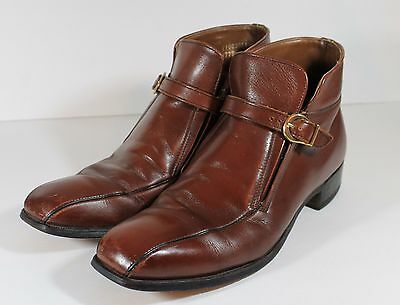 Men's Vintage 70's JC Penney Brown Leather Dress Ankle Boots Size 10.5 B